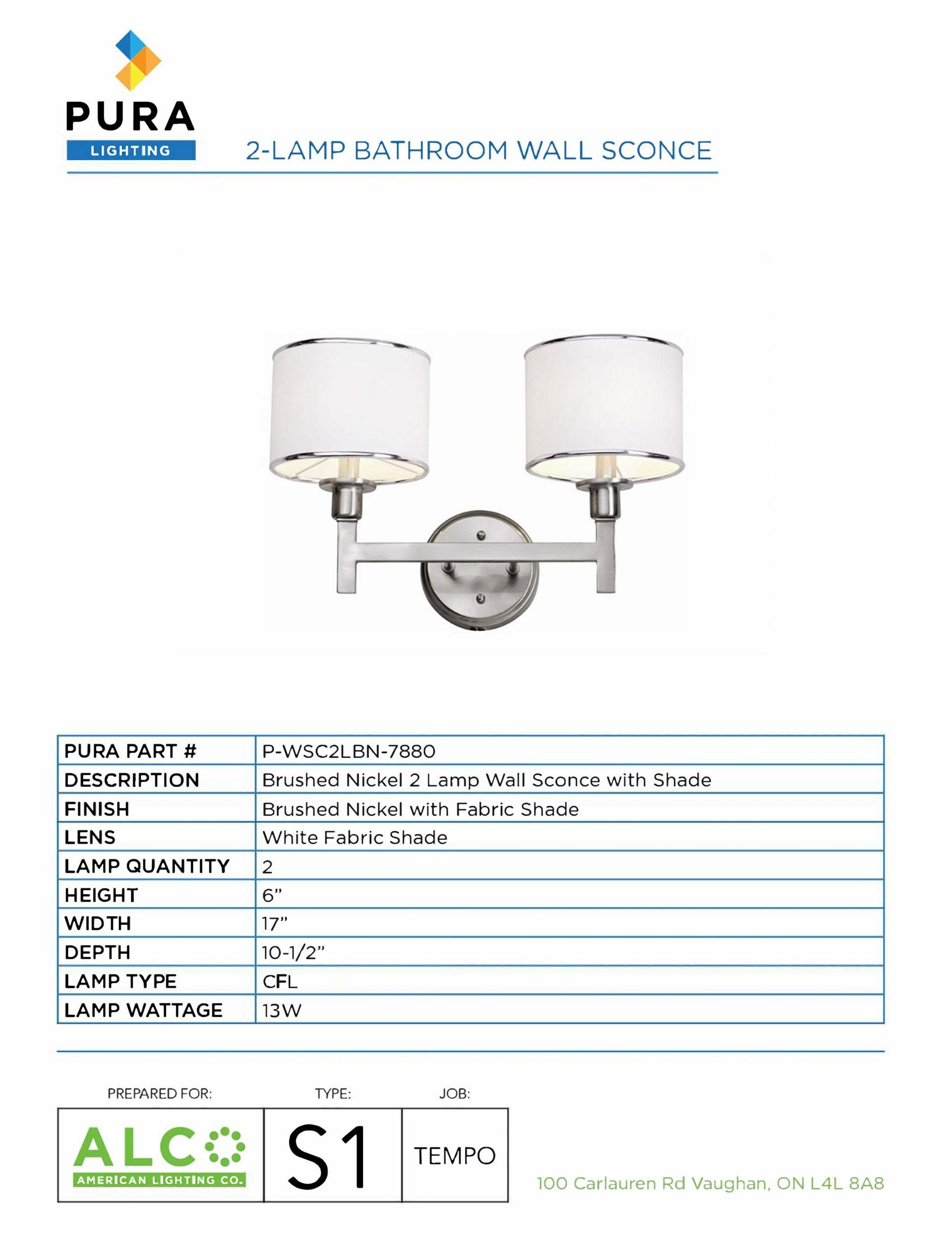 Original Pura Specification sheet
