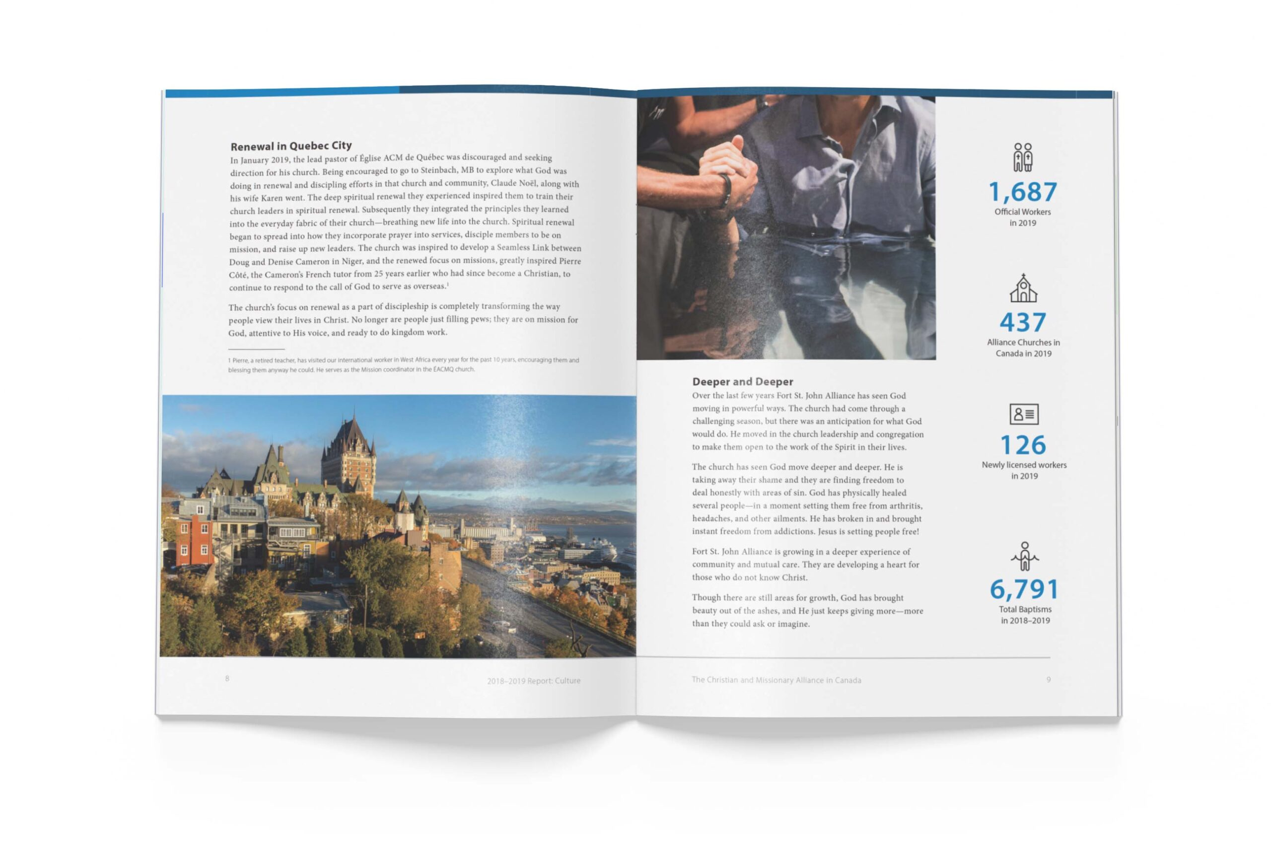 Page 8 of The Alliance Canada 2018-2019 Biannual Report