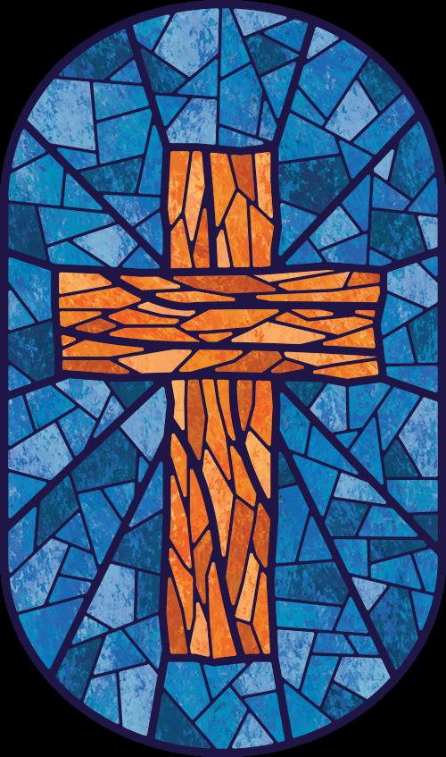 Fourfold Gospel Stained Glass Saviour