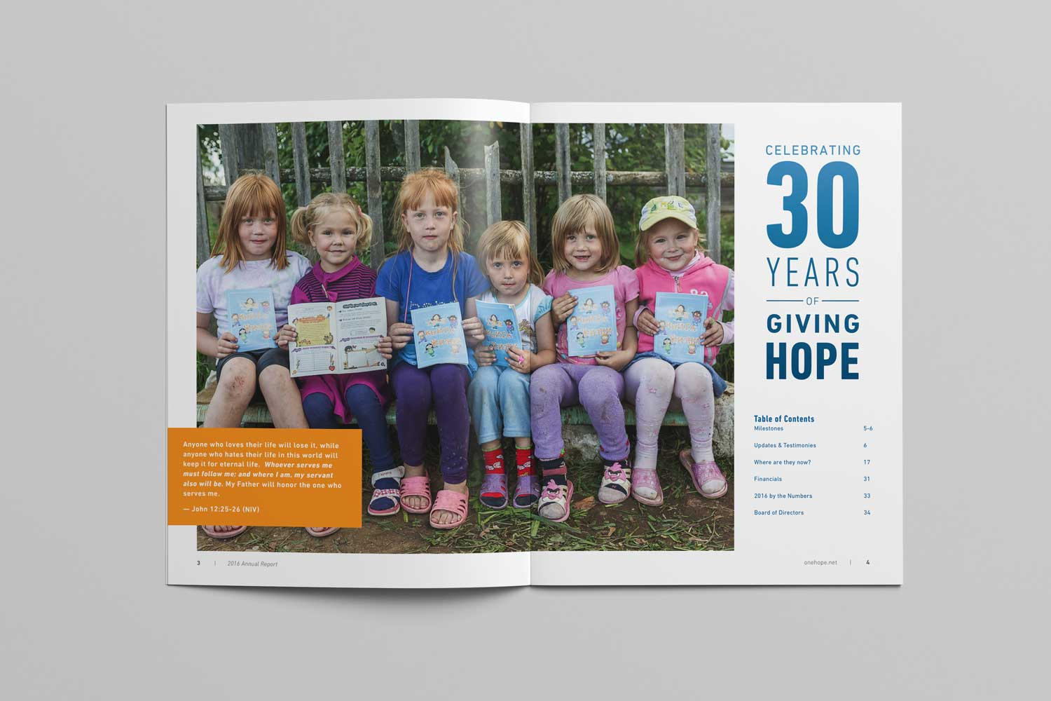 OneHope 2016 Annual Report page 4